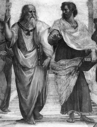 Image of Plato and Aristotle